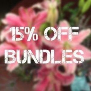 bundle 2 or more items and save :)